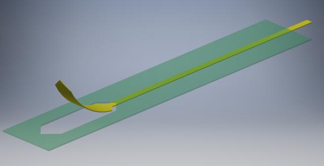 解説図。薄い緑がレジスト、黄色がパターンです。