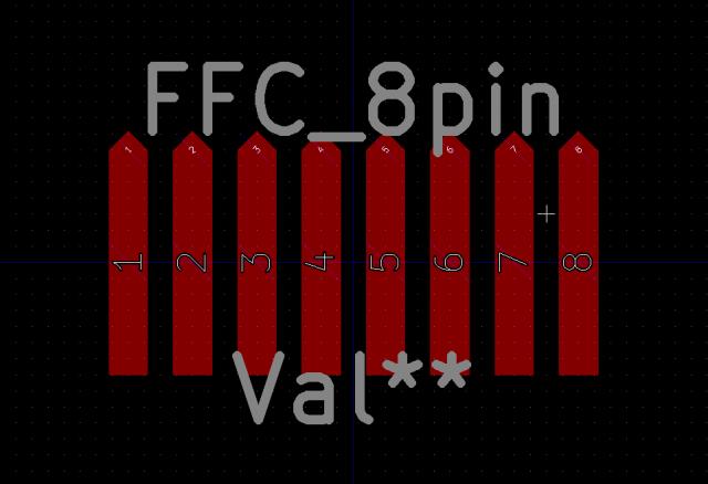 ケーブル側の端子のフットプリント