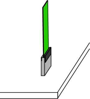垂直接続のFPCコネクタ