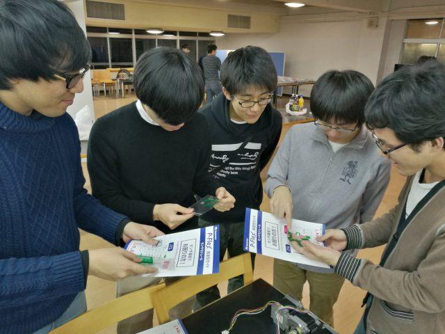 東京理科大Miceの皆さんにもサンプルを手にとっていただきました!