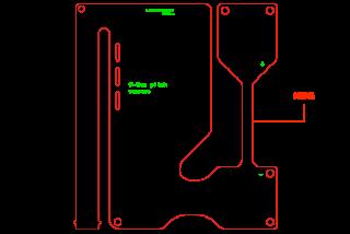 フレキシブル基板 外形線