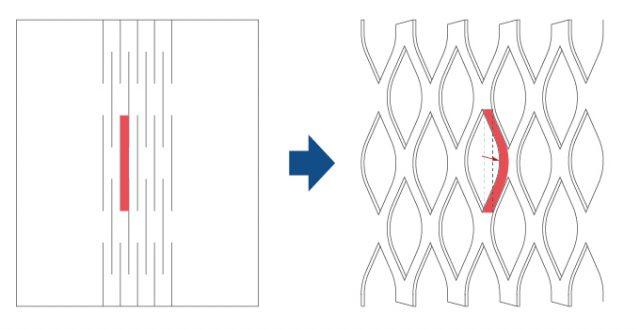 天の川切り紙構造