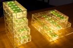 フレキシブル基板 天の川切り紙構造による伸縮基板