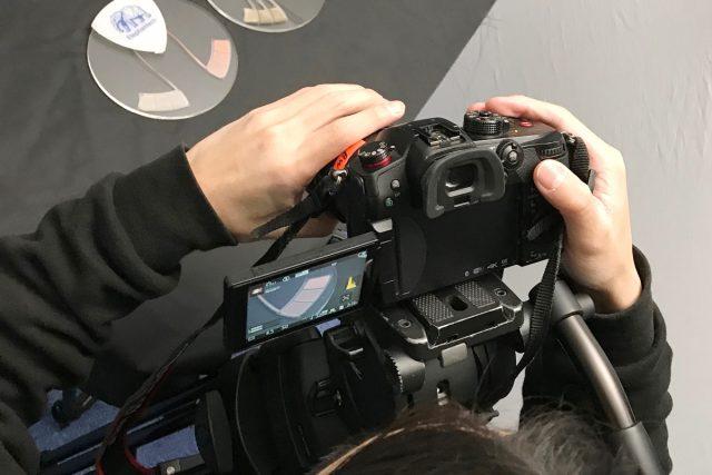 新バージョンの静電タッチセンサー電極(サンプル)の撮影を行いました。