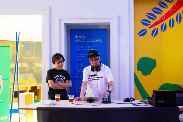 """DJ event『 spinoff """" Area Deep""""』は土橋安騎夫氏と共に牧田浩氏を迎えて進行しました。"""