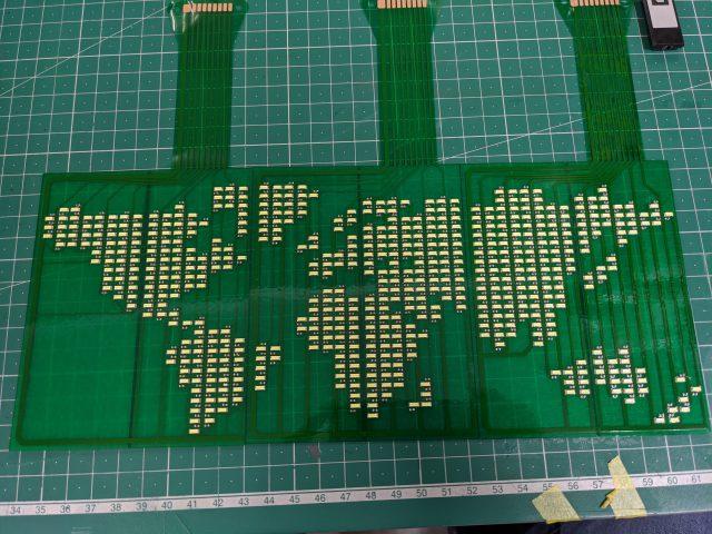 【フレキシブル基板にチャレンジ!】地球儀編[6]:基板製作その2