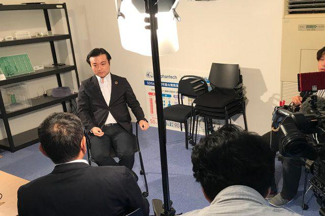 NHK国際放送局の取材がありました。