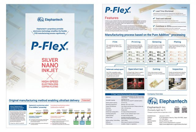 We've updated a brochure for P-Flex® (As of May 14,2000)