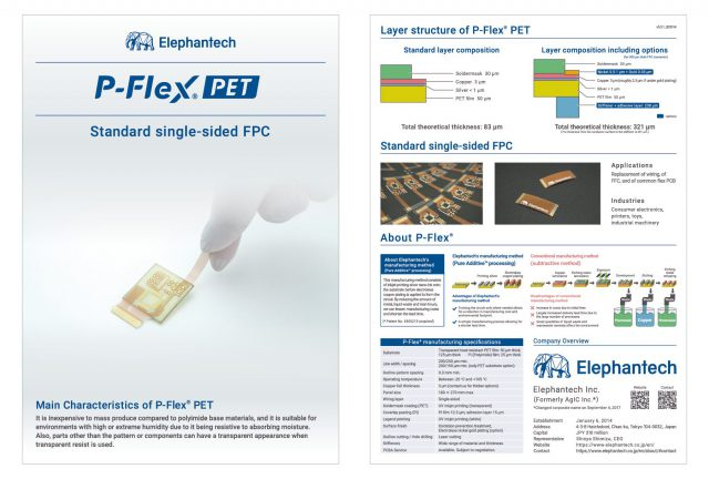 a brochure for P-Flex® PET
