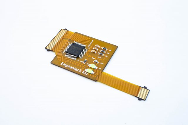P-Flex® single-sided flex PCB mounted with a QFP